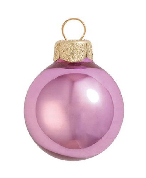 """8ct Rosewood Pink Shiny Glass Christmas Ball Ornaments 3.25"""" (80mm) - IMAGE 1"""