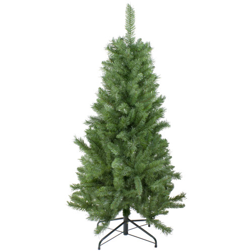 "4.5' x 28"" Slim Mixed Pine Artificial Christmas Tree - Unlit - IMAGE 1"