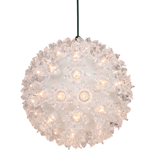"""Clear Lighted Hanging Starlight Sphere Outdoor Christmas Decoration 6"""" (150MM) - IMAGE 1"""