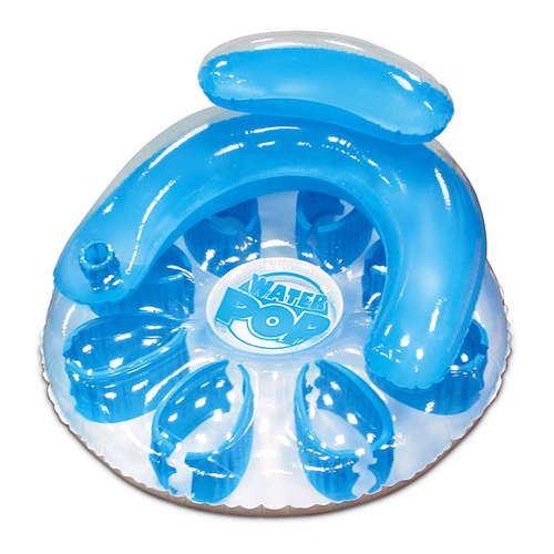"48.5"" Inflatable Blue Water Pop Circular Swimming Pool Lounger - IMAGE 1"