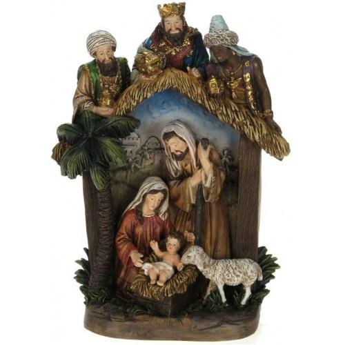 "12"" Religious Nativity Creche Scene Christmas Table Top Decoration - IMAGE 1"