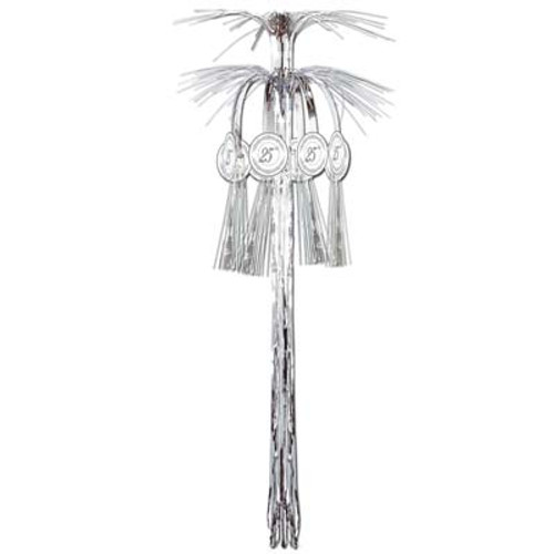 Pack of 12 Silver 25th Wedding Anniversary Cascade Column Cutouts 3' - IMAGE 1