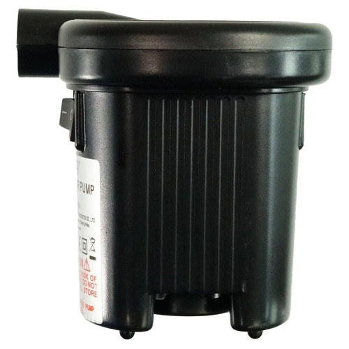 Black AC or DC Handheld Electric Powered Inflate and Deflate Air Pump - IMAGE 1