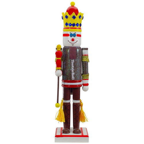 """14"""" Tootsie Roll Wooden Christmas Nutcracker Figure with Scepter - IMAGE 1"""