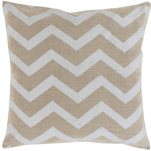 """22"""" Gray and Brown Hand Woven Square Throw Pillow - IMAGE 1"""