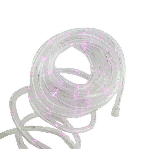 12' Solar Powered Multi-Function Pink LED Indoor/Outdoor Christmas Rope Lights with Ground Stake - IMAGE 1