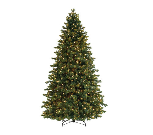 7.5' Pre-Lit Full Savannah Spruce Artificial Christmas Tree - Clear Lights - IMAGE 1