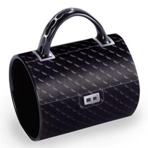 "5"" Fashion Avenue Chic Quilted Classic Ceramic Handbag Mug - IMAGE 1"
