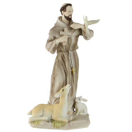 """8.5"""" Galleria Divina Religious St. Francis of Assisi with Animals Figure - IMAGE 1"""