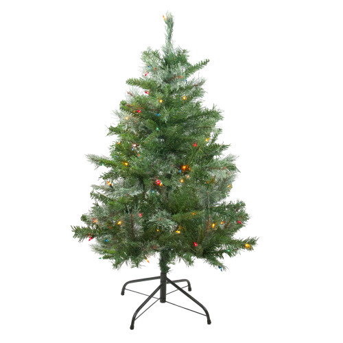 4' Pre-Lit Mixed Cashmere Pine Artificial Christmas Tree - Multi Lights - IMAGE 1