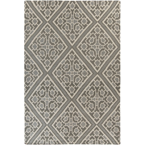 2' x 3' Ivory and Gray Hand Woven Area Throw Rug - IMAGE 1