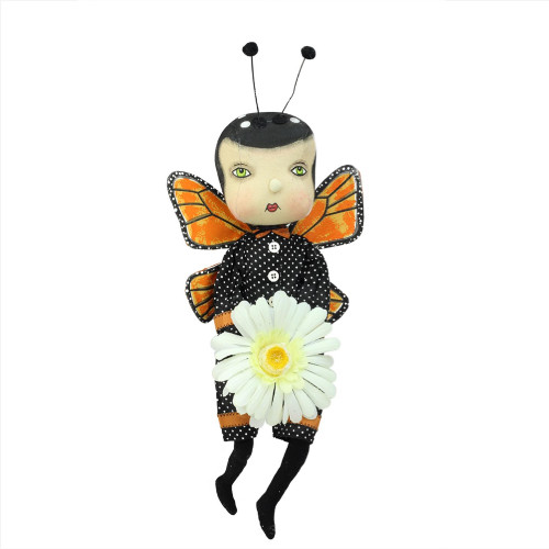 """13"""" Black and Orange Avis the Butterfly Boy Easter Tabletop Figurine - IMAGE 1"""