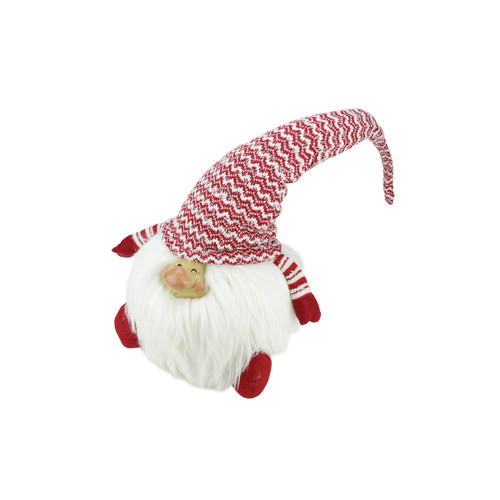 """14.75"""" Red and White Chipper Chester Sitting Santa Gnome Christmas Tabletop Figurine - IMAGE 1"""