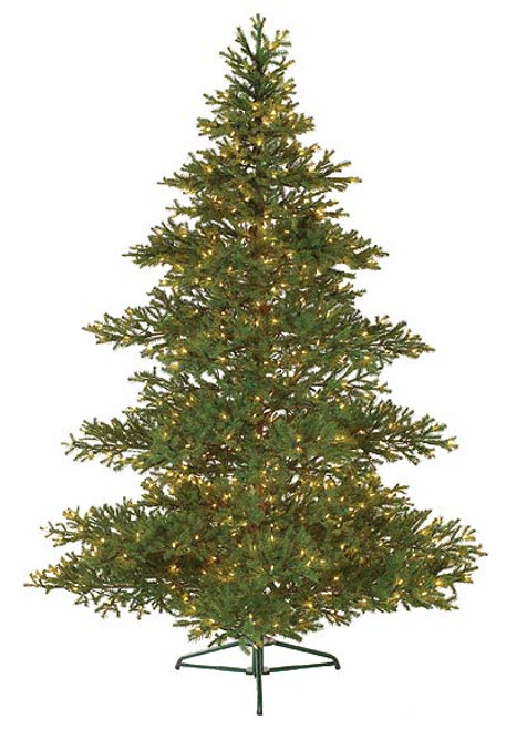 7.5' Pre-Lit Full Layered Balsam Artificial Christmas Tree - Clear Lights - IMAGE 1