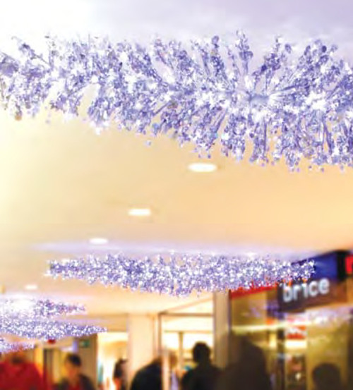 9' LED Lighted Silver Manhattan Lightspray Commercial Display Decoration - IMAGE 1