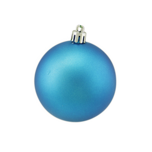 "Matte Turquoise Blue Shatterproof Christmas Ball Ornament 2.75"" (70mm) - IMAGE 1"