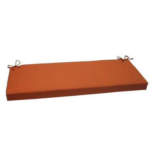 "45"" Burnt Orange Solid Outdoor Patio Bench Cushion - IMAGE 1"