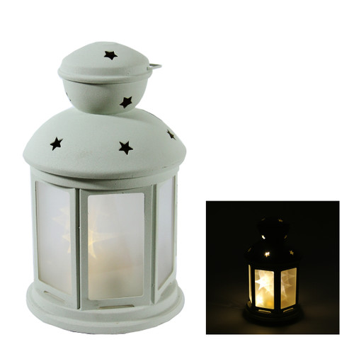 "8"" Battery Operated White LED Lighted Invisilite Holographic Star Christmas Lantern - Warm White Lights - IMAGE 1"