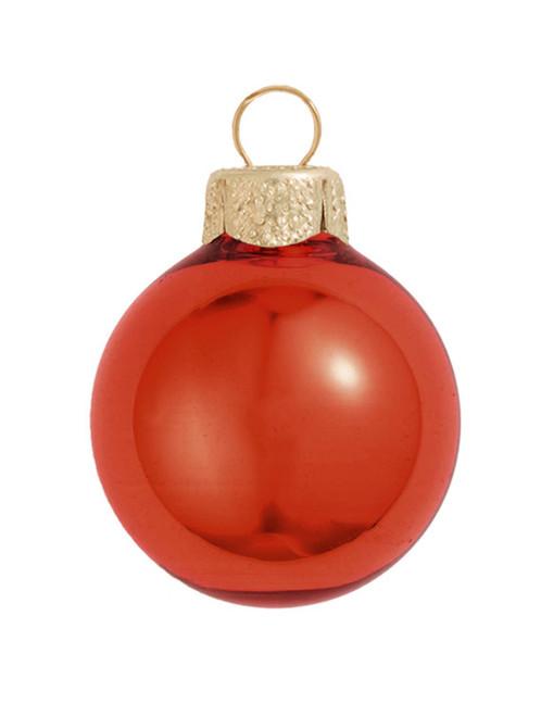 "Henna Red Shiny Glass Ball Christmas Ornament 7"" (180mm) - IMAGE 1"