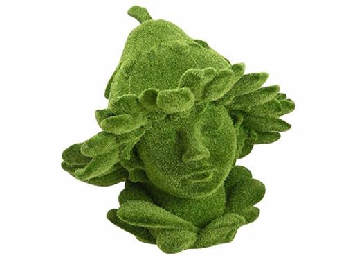"12.25"" Green Moss Spring Garden Fairy Statue - IMAGE 1"