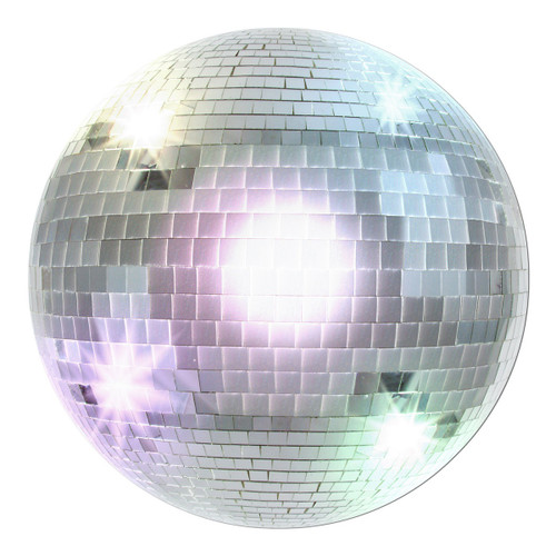 """Club Pack of 24 Silver and Gray Retro 70's Themed Disco Ball Cutout Party Decors 13.5"""" - IMAGE 1"""