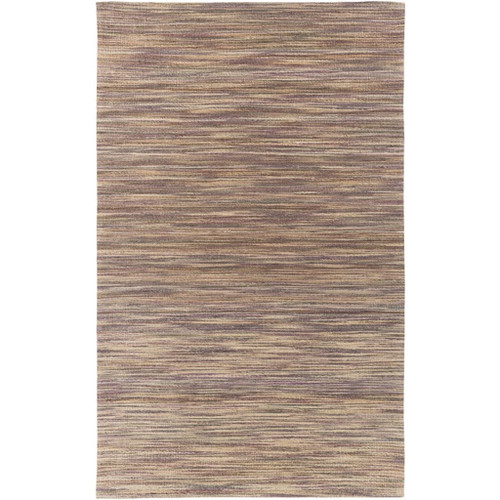 2' x 3' Chestnut Brown and Green Hand Woven Rectangular Area Throw Rug - IMAGE 1