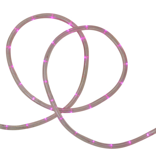 Pink LED Outdoor Christmas Rope Lights - 18 ft - IMAGE 1