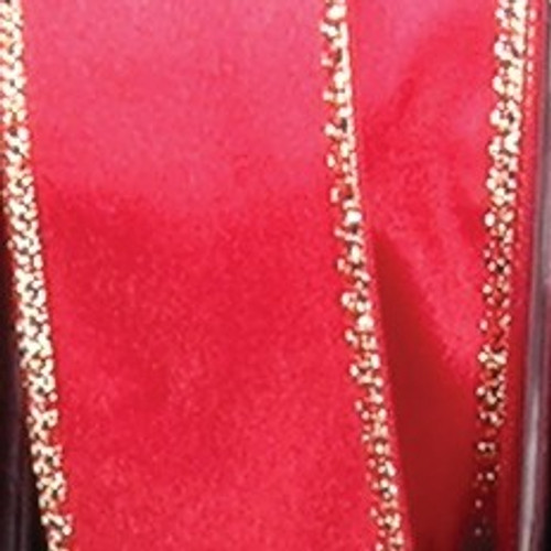 """Red and Gold Woven Edge Craft Ribbon 1"""" x 108 Yards - IMAGE 1"""