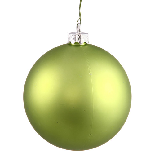 "Matte Lime Green Shatterproof Christmas Ball Ornament 10"" (250mm) - IMAGE 1"