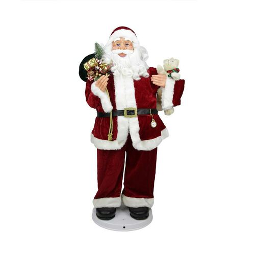 6ea697fa2f31c 4  Deluxe Animated and Musical Decorative Dancing Santa Claus Christmas  Figure - 31730144