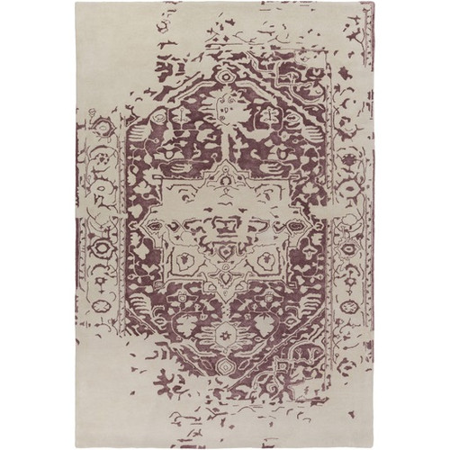 9' x 12' Graceful Elegance Chestnut Brown and Ivory Hand Tufted Area Throw Rug - IMAGE 1