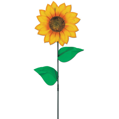 Pack of 6 Yellow and Green Sunflower Wind-Wheel Summer Yard Decor 3' - IMAGE 1