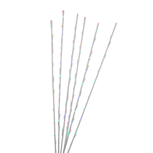 Set of 6 Clear LED Lighted Garden Branch Pathway Markers 4' - IMAGE 1