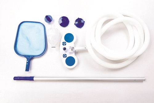 Blue Swimming Pool Cleaning and Maintenance Kit - IMAGE 1