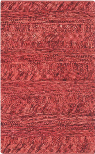 9' x 13' Desert Winds Blood Red and Blush Red Hand Woven Wool Area Throw Rug - IMAGE 1