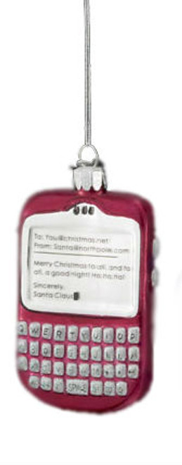"""Noble Gems Mouth Blown Glass Tween Christmas Red PDA Holiday Ornament 3.5"""" - IMAGE 1"""