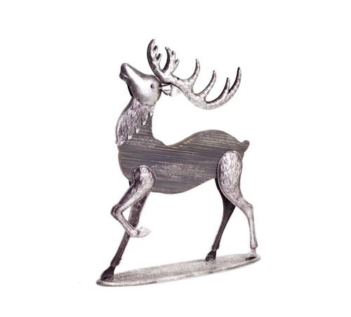 "19"" Gray and Silver Buck Reindeer Christmas Tabletop Figurine - IMAGE 1"