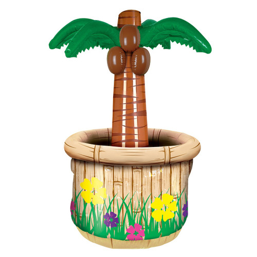 """Pack of 6 Inflatable Beige Potted Palm Tree Cooler 28"""" - IMAGE 1"""