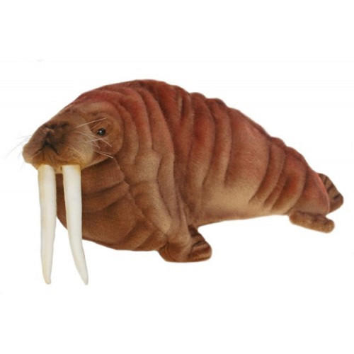 """Pack of 2 Life-like Handcrafted Extra Soft Plush Walrus Stuffed Animals 15"""" - IMAGE 1"""