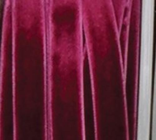 "Burgundy Red Soft Woven Edge Decorating Ribbon 0.25"" x 66 Yards - IMAGE 1"