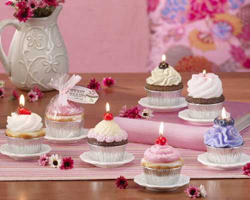 """Club Pack of 12 White Sweet Treats Cupcake Candle Display Plates 4"""" - IMAGE 1"""