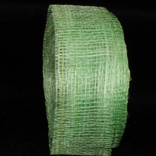 """Lime Green Fiber Wired Craft Ribbon 1.5"""" x 96 Yards - IMAGE 1"""