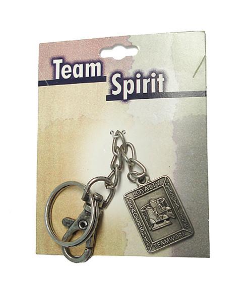 "Set of 4 Team Spirit Hockey Sports Religious Keychains 4.25"" - IMAGE 1"