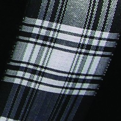 """Black and White Plaid Wired Craft Ribbon 1.5"""" x 27 Yards - IMAGE 1"""