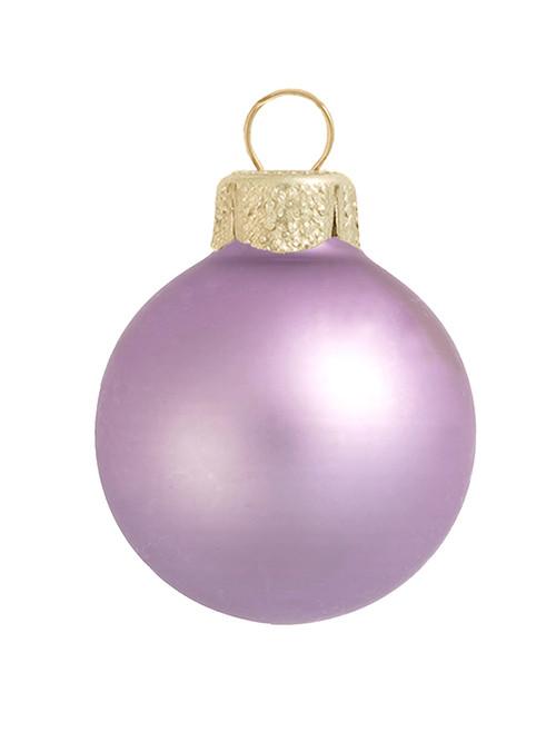 "8ct Purple Glass Matte Christmas Ball Ornaments 3.25"" (80mm) - IMAGE 1"