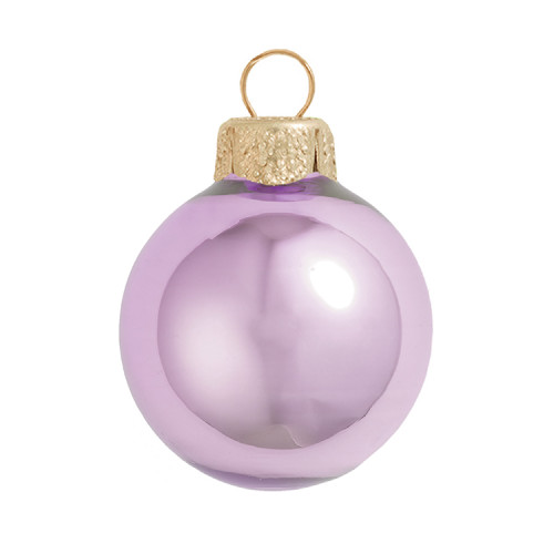 """4ct Soft Lavender Glass Pearl Christmas Ball Ornaments 4.75"""" (120mm) - IMAGE 1"""