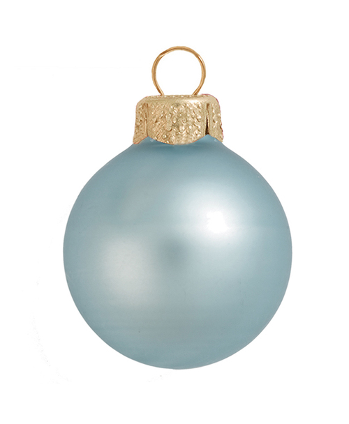 "4ct Arctic Blue Glass Matte Christmas Ball Ornaments 4.75"" (120mm) - IMAGE 1"