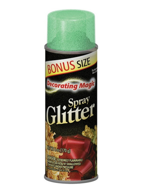 Decorating Magic Green Glitter Christmas Spray - 6 Ounces - IMAGE 1