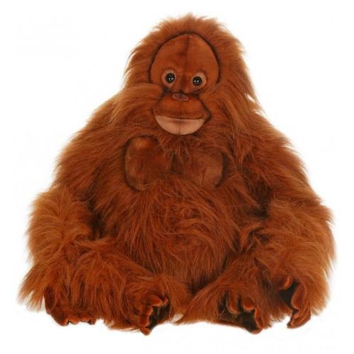 "20.25"" Brown Handcrafted Orangutan Stuffed Animal - IMAGE 1"