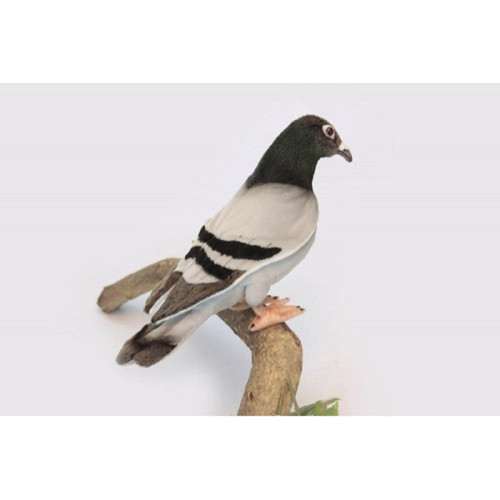 "Set of 3 Black and White Handcrafted Soft Plush Pigeon Stuffed Animals 11.25"" - IMAGE 1"